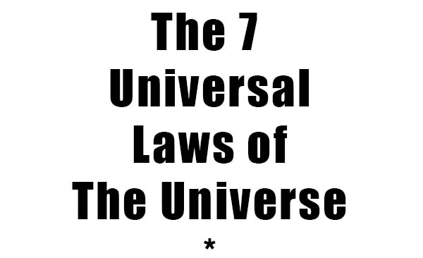 the 7 universal laws of the universe